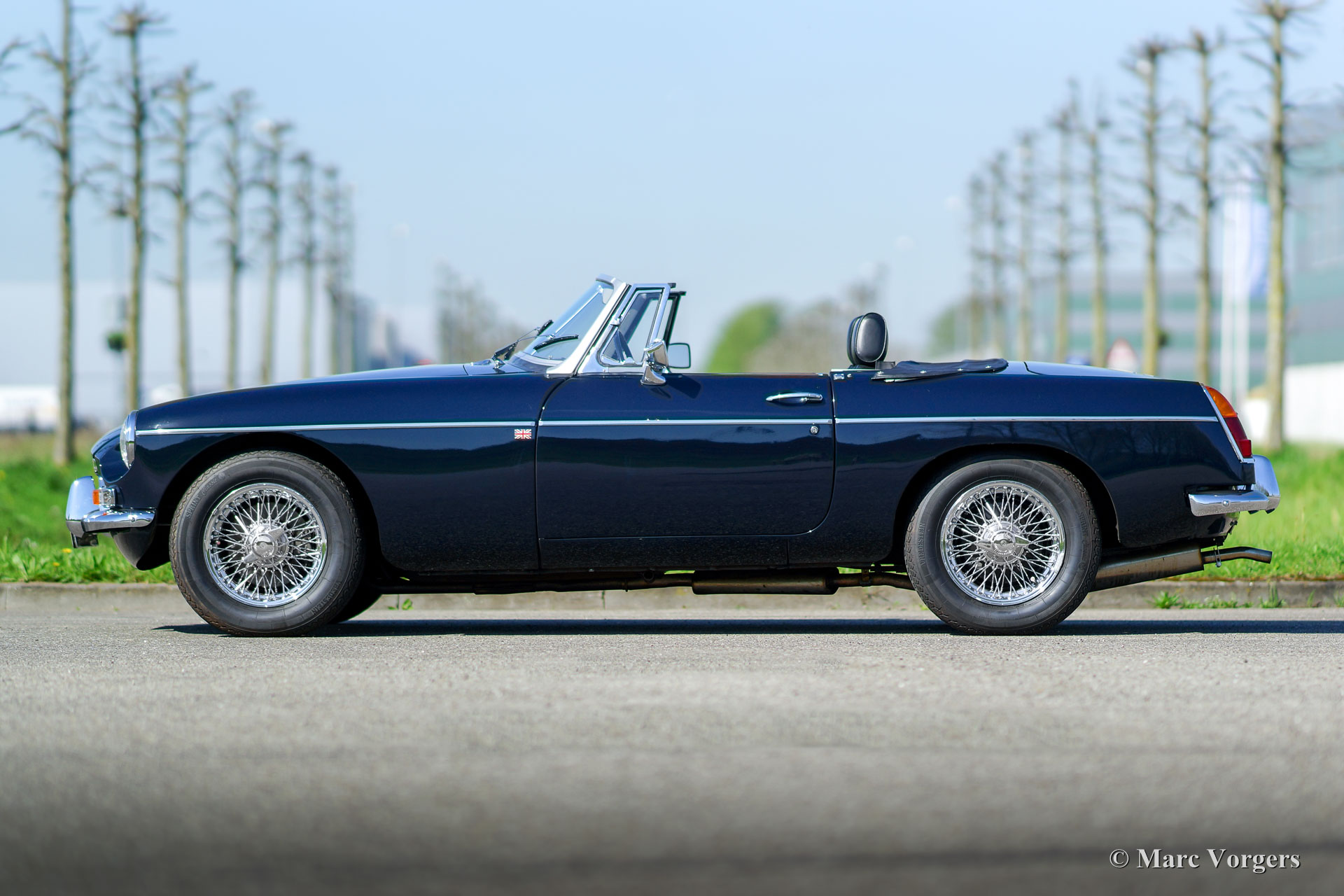 Black Carpet Set for MGB Roadster 1968 to 1980